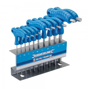 Silverline Hex Key T-Handle Set 10 Piece