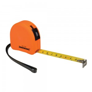 Silverline Hi-Vis Orange Contour Tape Measure (Various Sizes)
