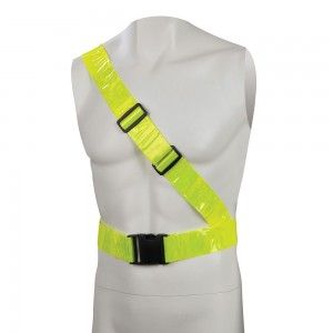 Silverline Hi-Vis Yellow Reflective Sash Belt Strap PVC