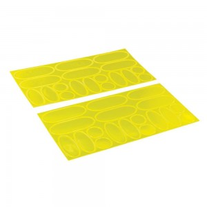 Silverline Hi-Vis Yellow Reflective Stickers 36 Piece