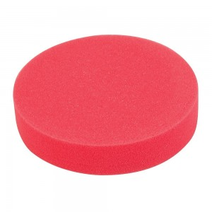 Silverline Hook & Loop Foam Polishing Head 180mm Ultra-Soft Red