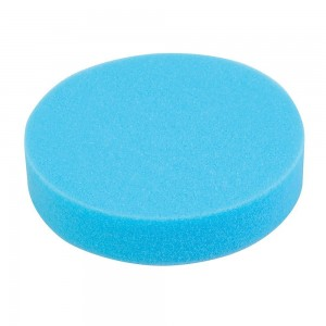 Silverline Hook & Loop Polishing Foam Head 180mm Medium Blue