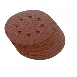 Silverline Hook & Loop Sanding Discs Punched 115mm Pack of 10 (Various Grits)