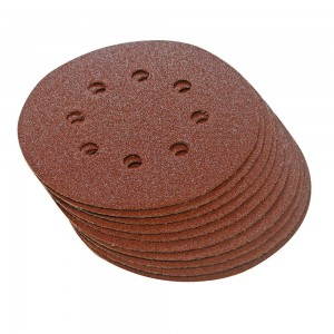 Silverline Hook & Loop Sanding Discs Punched 125mm Pack of 10 (Various Grits)