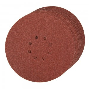 Silverline Hook & Loop Sanding Discs Punched 225mm Pack of 10 (Various Grits)