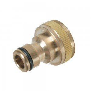 Silverline Hose Tap Connector Brass 3/4in BSP - 1/2in Male
