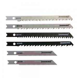 Silverline Jigsaw Blade Set Universal Fitting for Wood & Metal 30 Piece