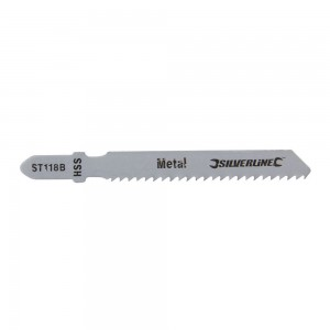 Silverline Jigsaw Blades for Metal Pack of 5 - Straight Fine Cut - ST118B