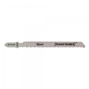 Silverline Jigsaw Blades for Wood Pack of 5 - Straight Fine Cut - ST101BR