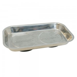 Silverline Magnetic Parts Tray Rectangular Dish 150 x 225mm