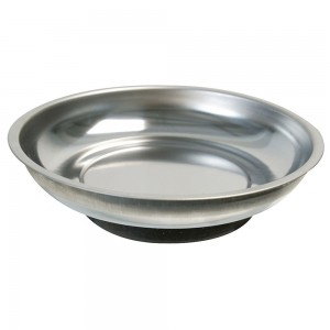 Silverline Magnetic Parts Tray Round Dish 150mm