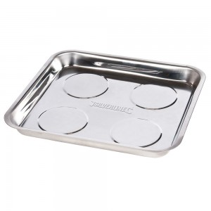 Silverline Magnetic Parts Tray Square Dish 270 x 292mm