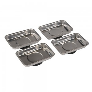 Silverline Magnetic Tray / Parts Dish Set 4 Piece