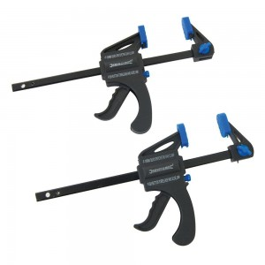 Silverline Mini Clamps Pack of 2 (100 or 150mm)