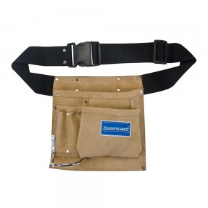 Silverline Nail & Pouch Leather Tool Belt 5 Pocket