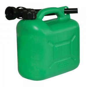 Silverline Plastic Fuel Can 5 Litre Green