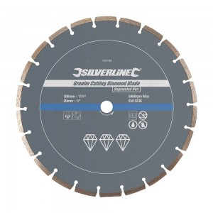 Silverline Pro Granite Cutting Diamond Blade 300 x 20mm