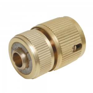 Silverline Quick Hose Connector Auto Stop Brass 1/2in Female