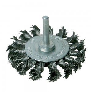 Silverline Rotary Steel Twist-Knot Wheel Brush 75mm
