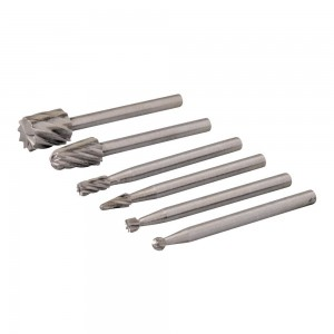 Silverline Rotary Tool HSS Burr Set 6 Piece (2-7mm)