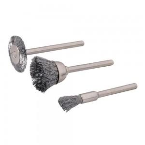 Silverline Rotary Tool Steel Wire Brush Set 3 Piece