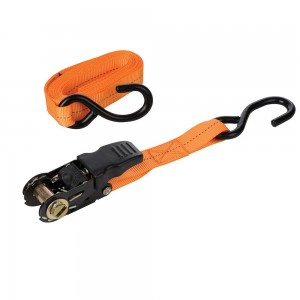 Silverline Rubber-Handled Ratchet Tie Down Strap S-Hook 4.5m x 25mm 800kg