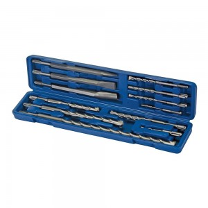 Silverline SDS Plus Masonry Drill Bit & Steels Set 12 Piece