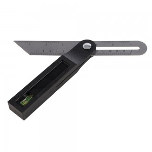Silverline Sliding T Bevel with Spirit Level 200mm