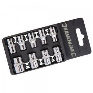 Silverline Socket Set 1/4in Drive Imperial 9 Piece (3/16 - 1/2in)
