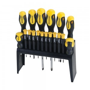 Silverline Soft-Grip Screwdriver Set 18 Piece