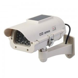 Silverline Solar-Powered Dummy CCTV Camera with Flashing LED Light