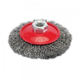 Silverline Steel Crimp Bevel Wire Grinder Brush (Various Sizes)