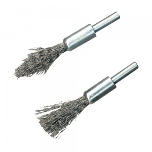 Silverline Steel De-Carb Brush Set Pack of 2