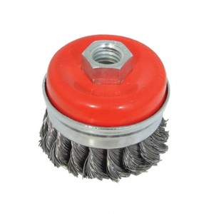 Silverline Steel Twist-Knot Wire Cup Grinder Brush (Various Sizes)