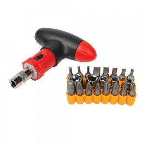 Silverline T-Handle Ratchet Screwdriver Set 22 Piece