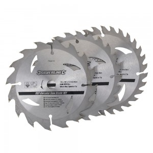 Silverline TCT Circular Saw Blade TRIPLE PACK 135 x 12.7mm (16, 24 & 30 Teeth)