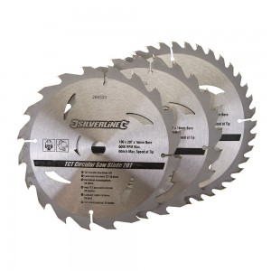 Silverline TCT Circular Saw Blade TRIPLE PACK 190 x 16mm (20, 24 & 40 Teeth)