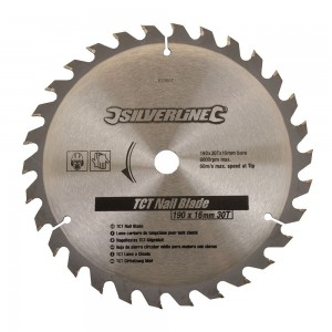 Silverline TCT 'Wood with Nails' Saw Blade 190 x 16mm x 30 Teeth