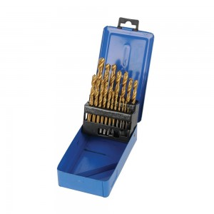 Silverline Titanium-Coated HSS Drill Bit Set 19 Piece