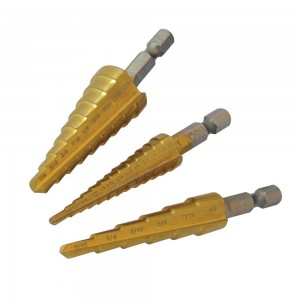Silverline Titanium-Coated HSS Step Drill Set Imperial 3 Piece