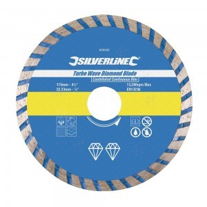 Silverline Turbo Wave Fast Cut Cont Rim Concrete Diamond Blade (115-300mm)