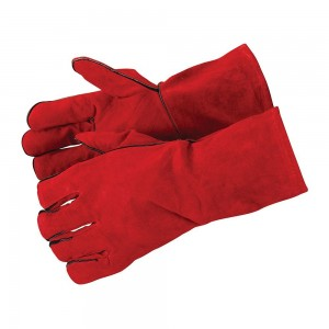 Silverline Welders Gauntlets Split Leather Gloves