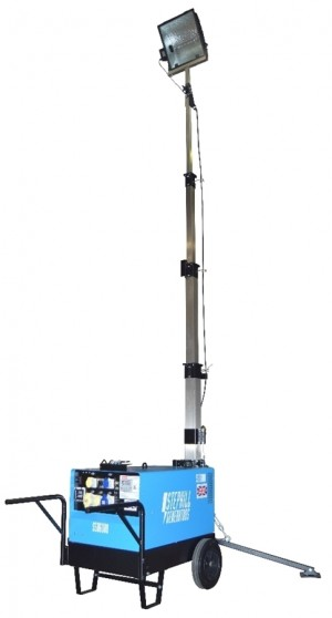 Stephill SLT6000D5 Portable Lighting Tower & Generator 4.8kW/6.0kVA - With Trolley Kit
