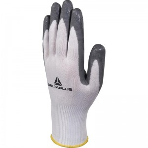 Delta Plus VV722 Safety Gloves White / Grey (Various Sizes) High-Tech Soft & Foam Nitrile