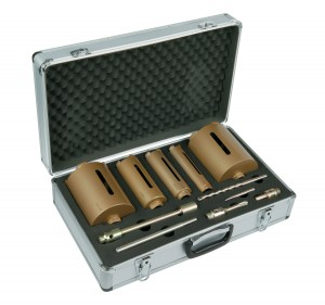 Spectrum MBD5 Plus 5pce Dry Diamond Core Drill Bit Set & Case