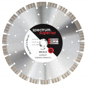 Spectrum MCX SUPERCUT Concrete Diamond Blades (Sizes 115-350mm)