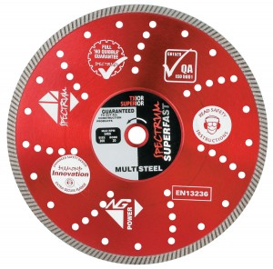 Spectrum TX10R Fast Multi-Steel Diamond Blades (Size 105-350mm)