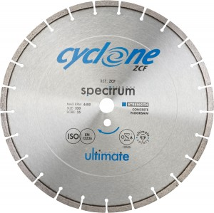 Spectrum ZCF CYCLONE Concrete Diamond Blades (Size 350-450mm)