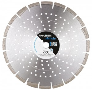 Spectrum ZRX Green Concrete & Asphalt Over Concrete Floorsaw Diamond Blade (Size 300-450mm)