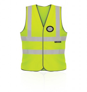 Unilite Hi-Vis Safety Waistcoat Yellow with LED Light (Sizes L-XXL)